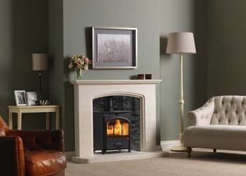 Fireline Ft5w Tracery Door With Cotswold Arch Surround